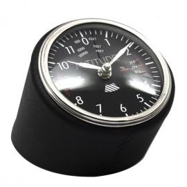 Black Leather Aviation Clock