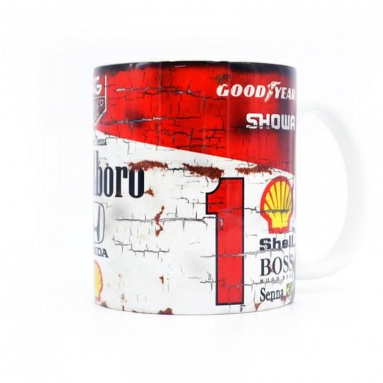 Ayrton Senna Marlboro Racing Mug