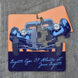 Set of 4 Bugatti Jigsaw Coasters