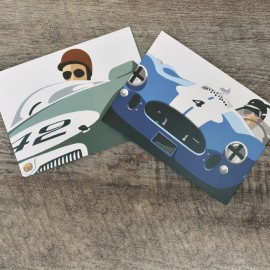 Robin Bark MG and Cobra Greetings Card