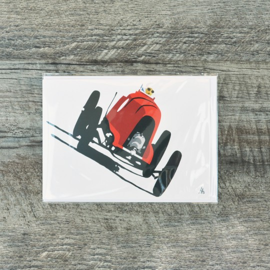 Robin Bark Brooklands Greetings Card