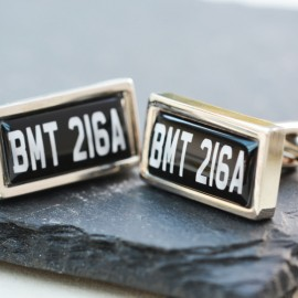 Personalised Classic Number Plate Cufflinks