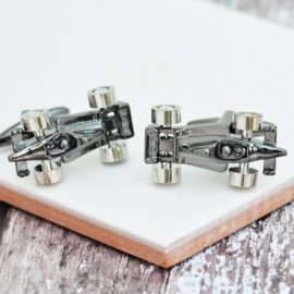 F1 Cufflinks Gun Metal