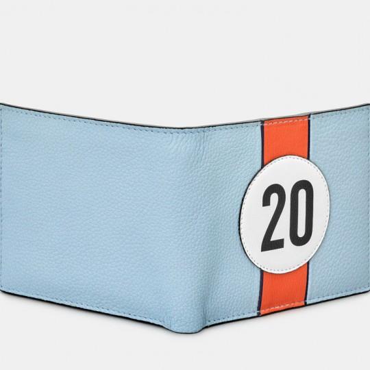 No 20 Blue Racing Stripe Wallet