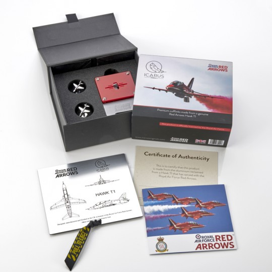 Reclaimed Red Arrows T1 Hawk Cufflinks
