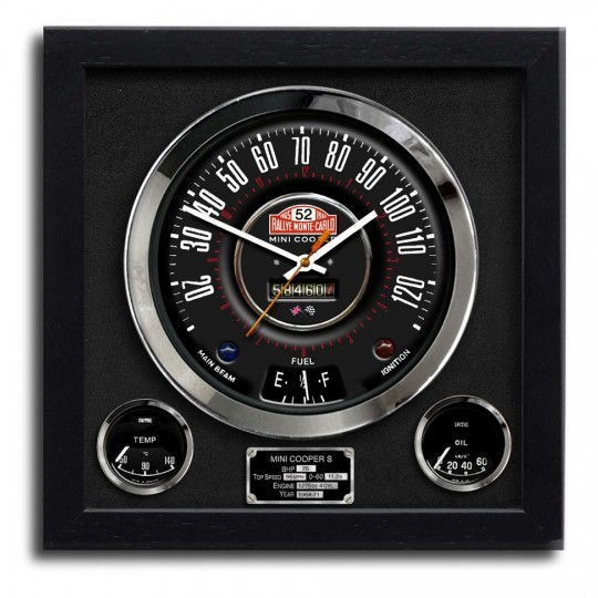 Speedo Wall Clock - Mini Cooper S Monte Carlo