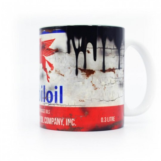 Mobiloil Oil Can Mug