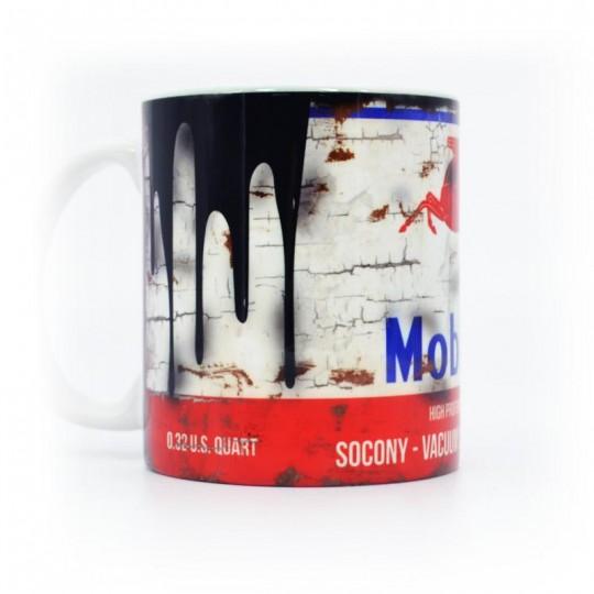 Mobiloil Oil Can Mug