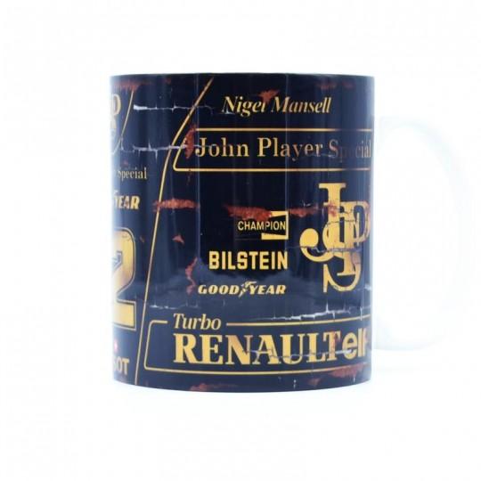 Nigel Mansell JPS Racing Mug