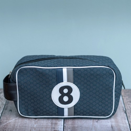 Racing Number Airforce Blue Wash Bag No8