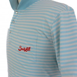 Suixtil Pescara Polo Shirt Blue Stripe