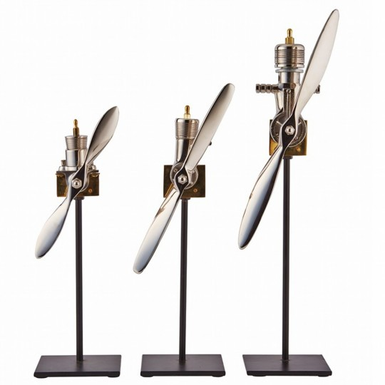 Replica Aeroplane Engine Sculpture ( set of 3)