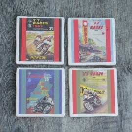 TT Racing Colour Posters set of four Coasters