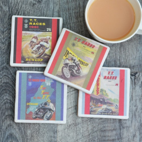 TT Racing Posters set of four Coasters