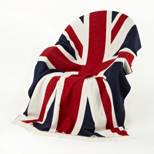 Union Jack Lambswool Travel Blanket