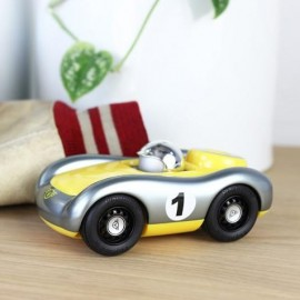 Viglietta Racing Car Silver and Yellow