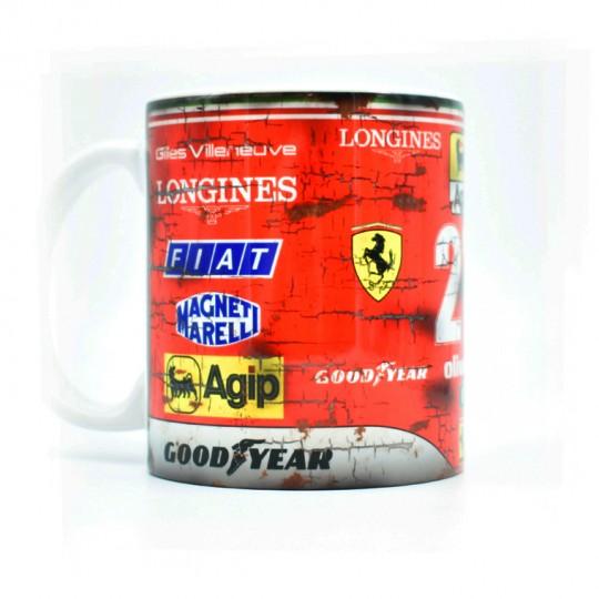Gilles Villeneuve Ferrari No27 Racing Mug