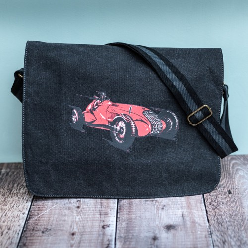 Alfa Messenger Bag Charcoal