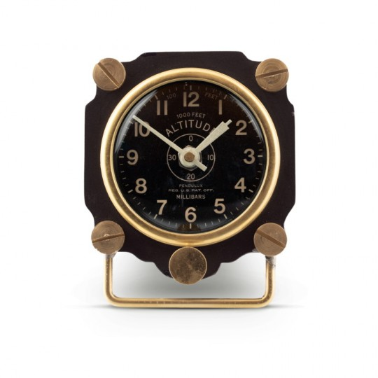Altimeter Desk Clock Black