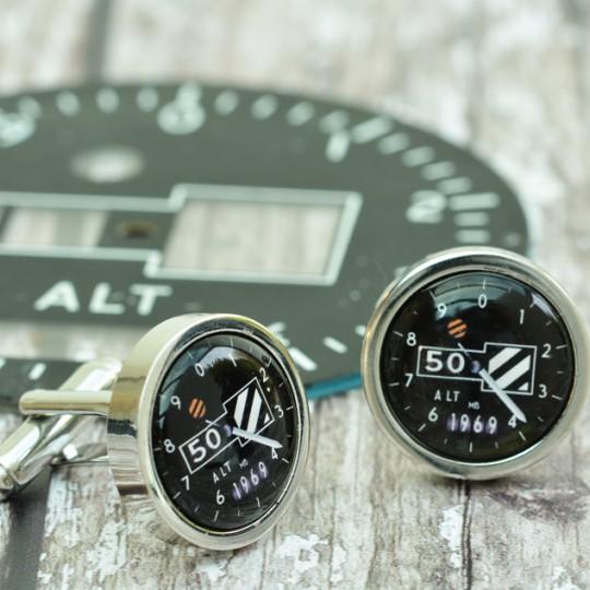 Personalised Altimeter Cufflinks