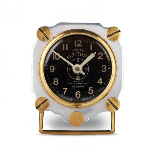 Altimeter Desk Clock Aluminium