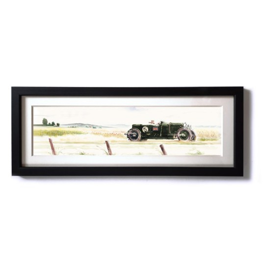 Uli Ehret Framed Print - Bentley in Summer Landscape