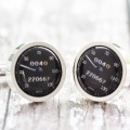 Personalised Black Speedometer Cufflinks