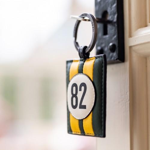 No 82 Green Racing Stripe Keyring