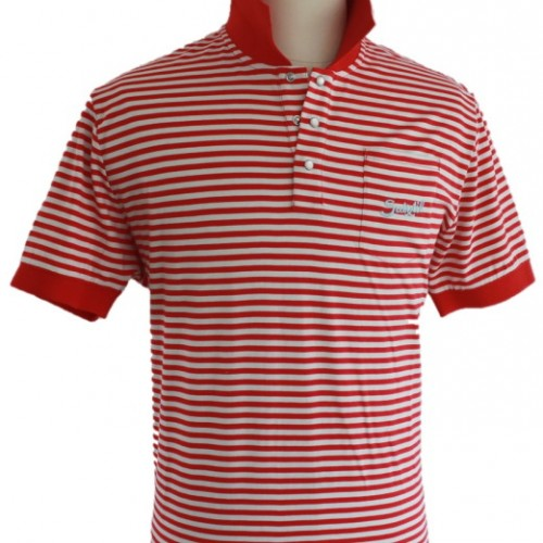 Suixtil Pescara Polo Shirt Red Stripe