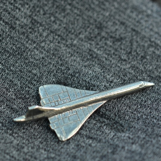 Pewter Concorde Lapel Pin badge
