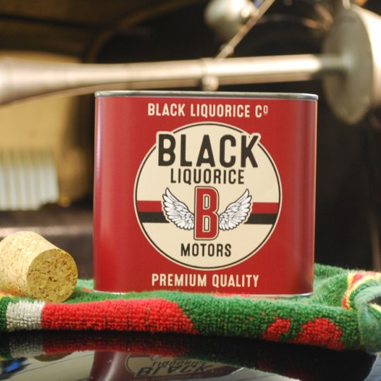 Liquorice Motors Classic Red Tin
