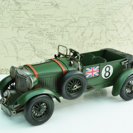 Tinplate Vintage Green Racing Car