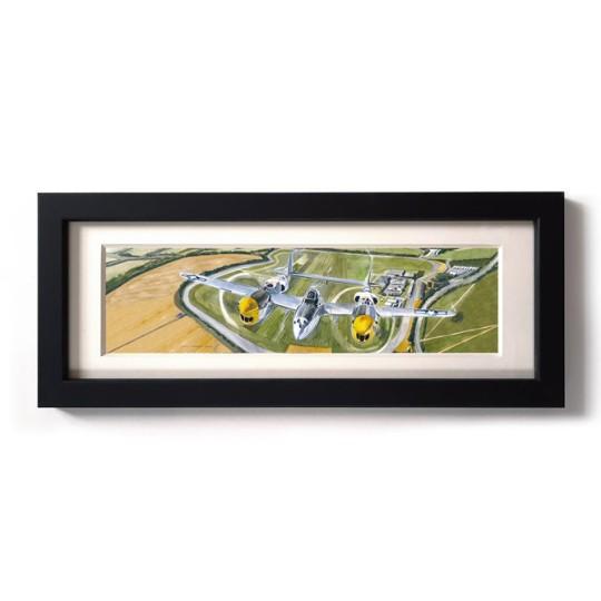 Uli Ehret Framed Print - Lockhead P38 Lightning