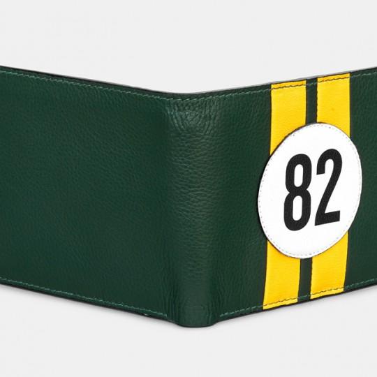 No 82 Green Racing Stripe Wallet