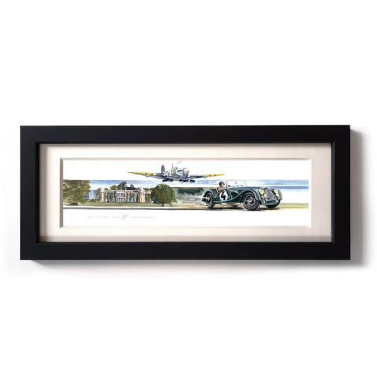 Uli Ehret Framed Print - Supermarine Spitfire and Morgan Plus4 at Goodwood House