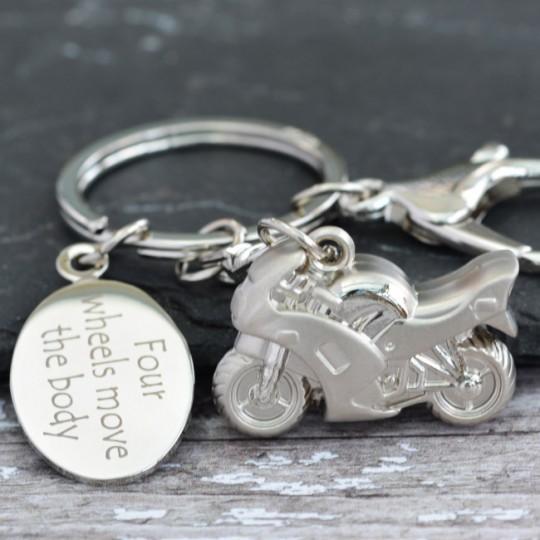Personalised Motorbike Keyring