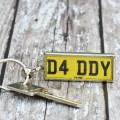 Personalised Number Plate Keyring