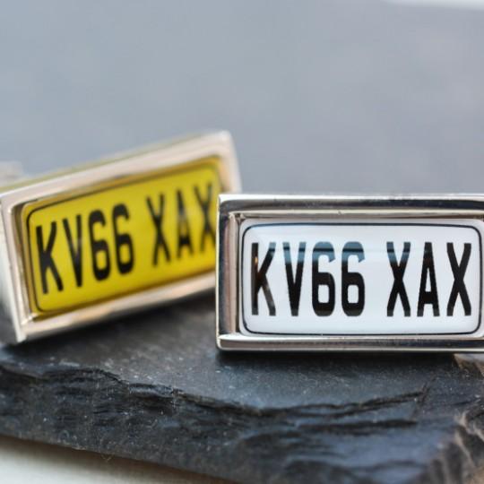 Personalised Number Plate Cufflinks