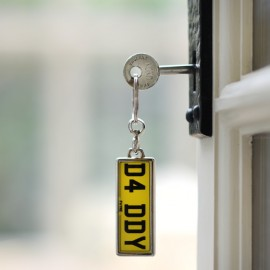 Personalised Number Plate Keyring