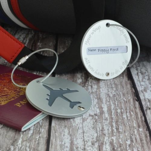 Personalised Plane Luggage Tag