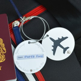 Personalised Plane Luggage Tag