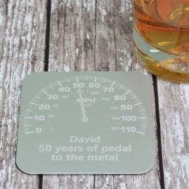 Personalised Car Dial Coaster