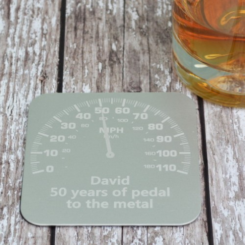 Personalised Car Dial Coaster