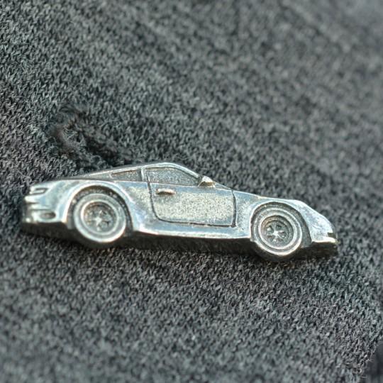 Pewter Sports Car Lapel Pin badge