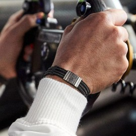 Portier Genuine F1 Tyre Bracelet