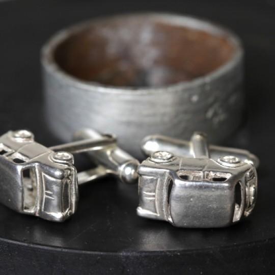 Solid Silver Mini Cufflinks