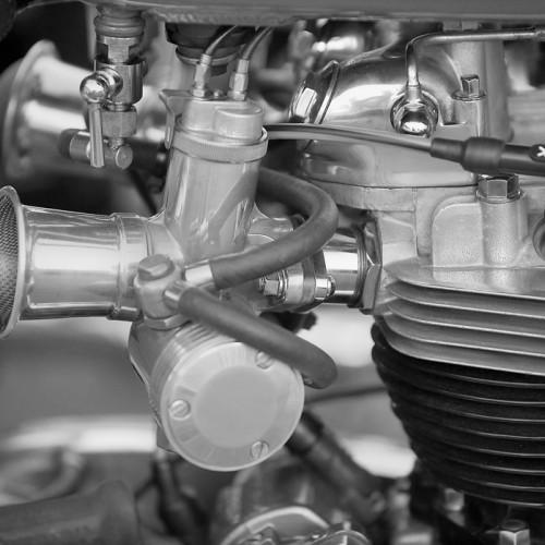 Motorgraphics - Bonneville Engine Detail Framed Print