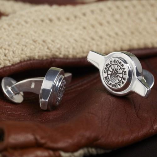 Genuine Borrani 2 Ear Spinner Cufflinks
