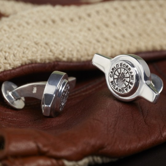Genuine Borrani 2 Ear Spinner Cufflinks