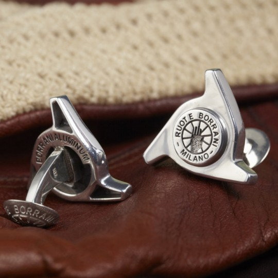 Genuine Borrani 3 Ear Spinner Cufflinks
